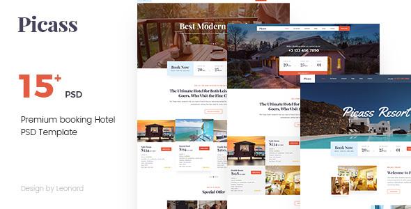 Picass | Hotel PSD Templates - Travel Retail TFx Eldon Hamilton