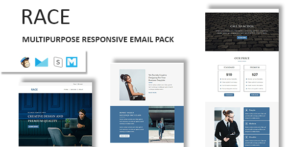 Race - Multipurpose Responsive Email Template With Stamp Ready Builder Access - Email Templates Marketing TFx Joel Micky