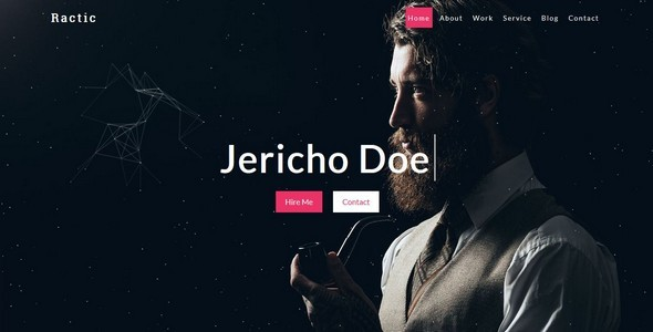 Ractic-Personal Template - Personal Site Templates TFx Jimi Ty