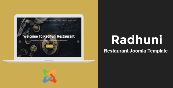 Radhuni - Restaurant Business Joomla Theme - Restaurants & Cafes Entertainment TFx Britton Sterling