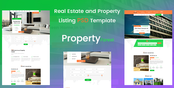 Real Estate and Property Listing Template - Retail PSD Templates TFx Willie Nik