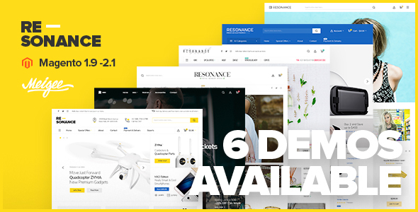 Resonance - Multi-Purpose Responsive Magento 2 and Magento 1 Theme - Magento eCommerce TFx Brandon Irvin