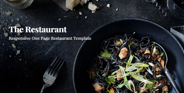 Restaurant || Responsive One Page Template - Restaurants & Cafes Entertainment TFx Osbert Harding