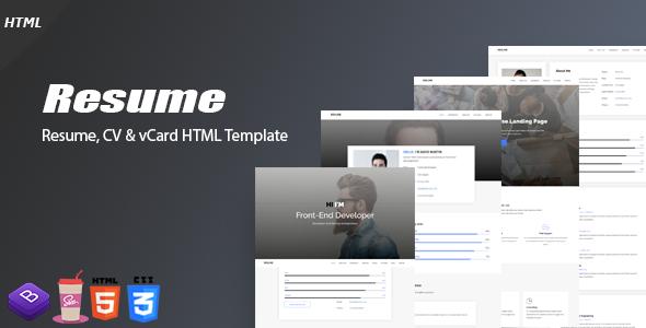 Resume - Resume, CV & vCard Template - Portfolio Creative TFx Kole Chesley