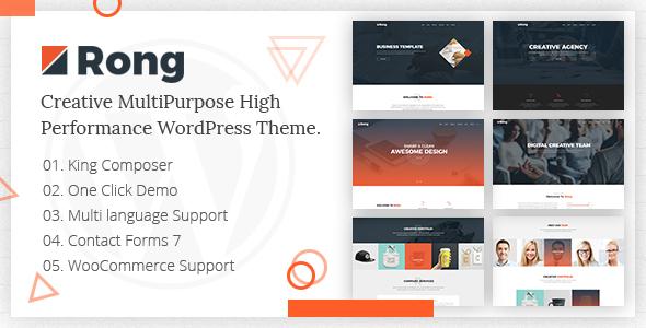 Rong - MultiPurpose Creative WordPress Theme - Creative WordPress TFx Franklyn Gerald