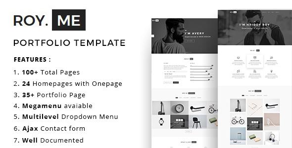 Royme - Portfolio Template - Portfolio Creative TFx Norton Conor