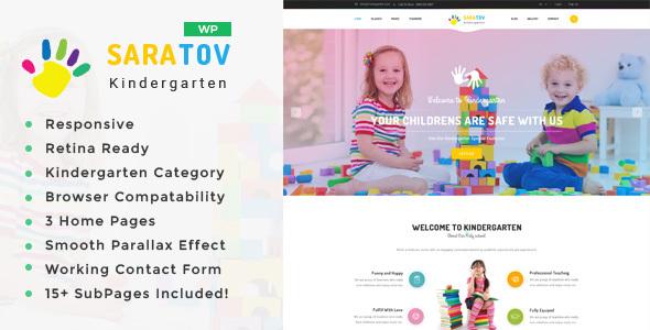 Saratov - Day Care & Kindergarten School WordPress Theme - Education WordPress TFx Teddy Cornell