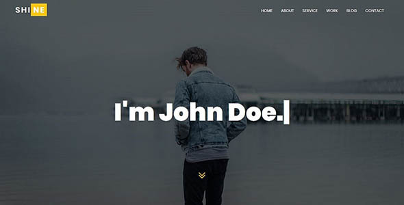 Shine - Personal Portfolio Template - Personal Site Templates TFx Trueman Elijah