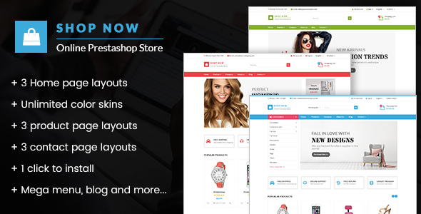 Shop Now - All in one package Prestashop theme - Shopping PrestaShop TFx Humbert Gordian