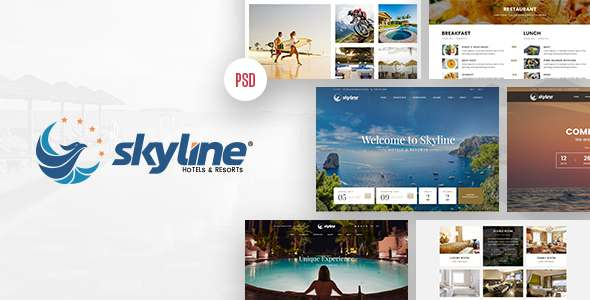 SkyLine – Hotel Booking PSD Template – Retail PSD Templates TFx Jerald Christopher