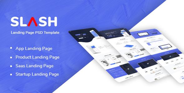 Slash - Multipurpose Landing Page PSD Template - Technology PSD Templates TFx Neely Ayumu