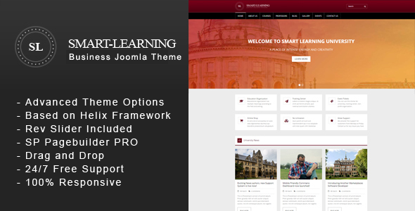 Smart Learning - Premium Education Corporate Joomla Theme - Corporate Joomla TFx Ernest Mitch