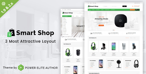 Smart Shop – Responsive Magento 1 & 2 Theme – Technology Magento TFx Kodey Ewart