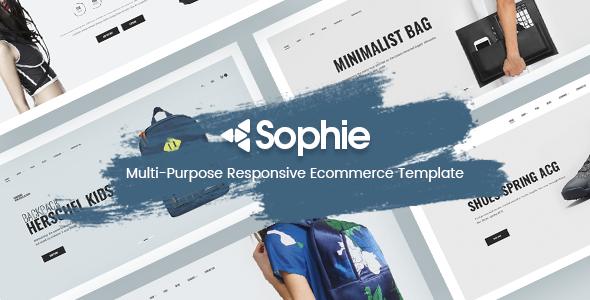 Sophie - Minimalist eCommerce HTML Template - Fashion Retail TFx Jess Wolf