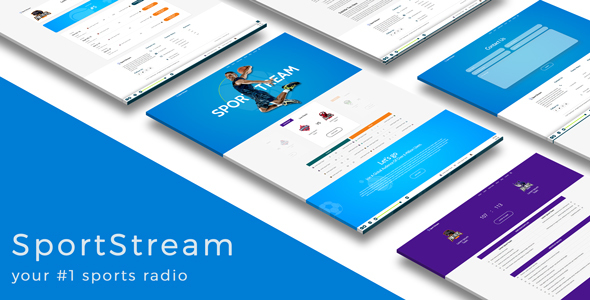 SportStream   HTML5 template for streaming sport content - Events Entertainment TFx Lonnie Osborne