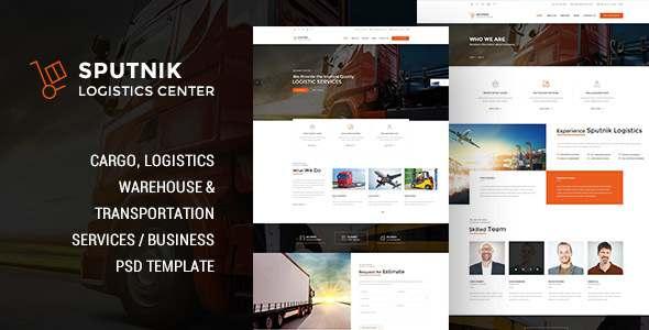 Sputnik Logistic Center -  PSD Template - Corporate PSD Templates TFx Chris Wibowo