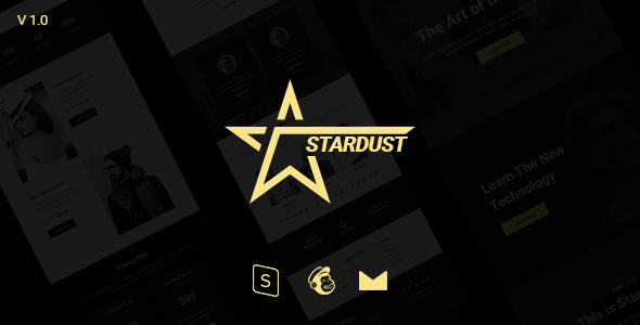 Stardust Multipurpose Email Template + Stampready Builder – Newsletters Email Templates TFx Wendell Washington