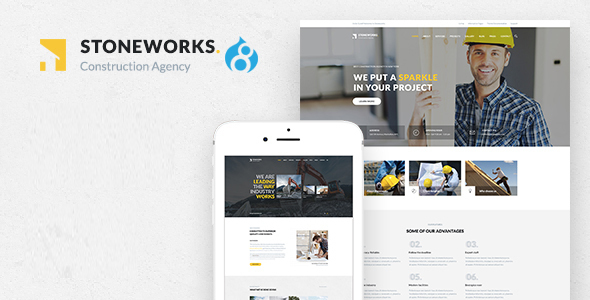 Stoneworks - A Professional Drupal Theme for Construction, Architect & Building Business - Business Corporate TFx Braiden Hedley