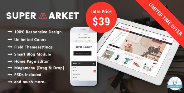 SuperMarket Online - Responsive Prestashop 1.7 Theme - Shopping PrestaShop TFx Plutarch Morley