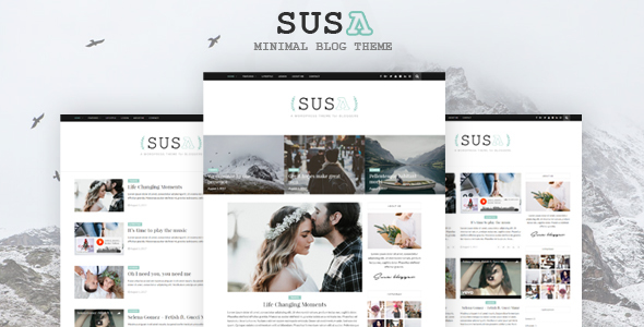 Susa - Responsive WordPress Blog Theme - Blog / Magazine WordPress TFx Hartley Tanner