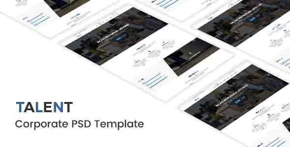 Talent - Corporate PSD Template - Corporate PSD Templates TFx Zak Jurou