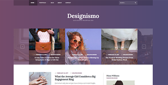 The Designismo - Responsive WordPress Blog Theme - Personal Blog / Magazine TFx Esmé Zechariah