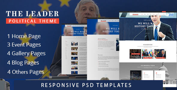 The Leader - PSD Template - Entertainment PSD Templates TFx Lutfi Westley