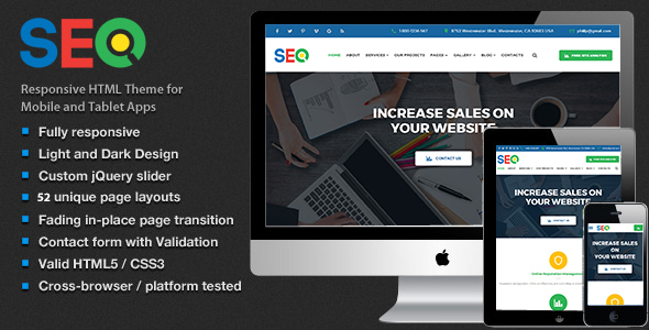 The SEO - SEO and Digital Marketing Agency Template HTML5 - Corporate Site Templates TFx Hallam Jason