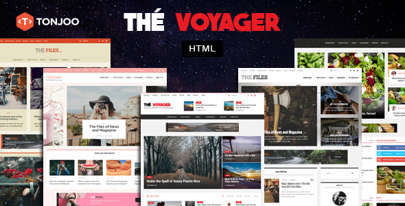 The Voyager - Multi Purpose Magazine and Blog HTML Template - Retail Site Templates TFx Courtney Caleb