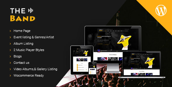 TheBand Music Bands Musicians & DJ's WordPress Theme - Music and Bands Entertainment TFx Kurt Rodney