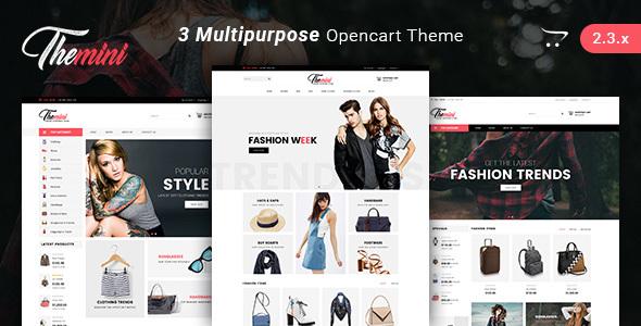 Themini - Multipurpose Responsive Fashion Opencart Theme - Fashion OpenCart TFx Dixon Mason