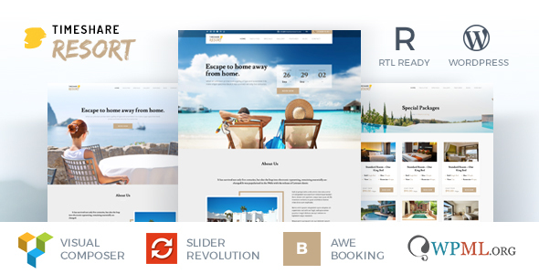 TimeShare – Single Property / Resort WordPress Theme – Travel Retail TFx Triston Ryou