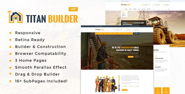 Titan Builders : Construction WordPress Theme - Business Corporate TFx Cletis Devereux