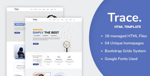 Trace - Creative Multipurpose HTML Template - Creative Site Templates TFx Wyatt Susumu