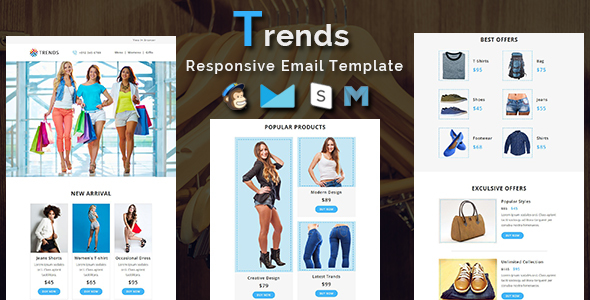 Trends – Responsive Email Template – Newsletters Email Templates TFx Kasey Sarkis