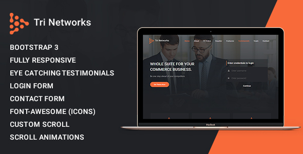 Tri Network - Multipurpose Bootstrap 3 Html Template - Corporate Site Templates TFx Devereux Tibby