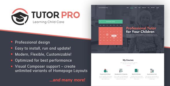 TutorPro - Education WordPress Theme - Education WordPress TFx Diggory Saburo