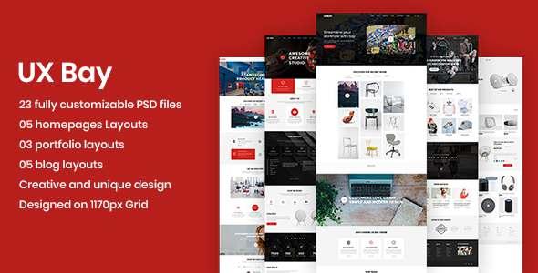 UX Bay - Creative Multi-Purpose PSD Template - Creative PSD Templates TFx Sefton Dave