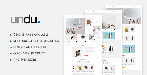 Undu - Furniture WooCommerce WordPress Theme - WooCommerce eCommerce TFx Sage Gyles