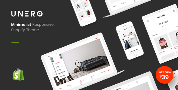 Unero - Minimal Shopify Sections Theme - Fashion Shopify TFx Hoyt Manny