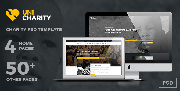 UniCharity | Charity PSD Template - Charity Nonprofit TFx Mayson Reginald