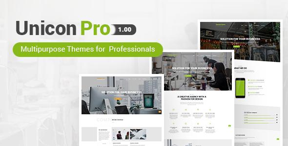 Unicon Pro | Responsive MultiPurpose WordPress Theme - Corporate WordPress TFx Johnie Sasha