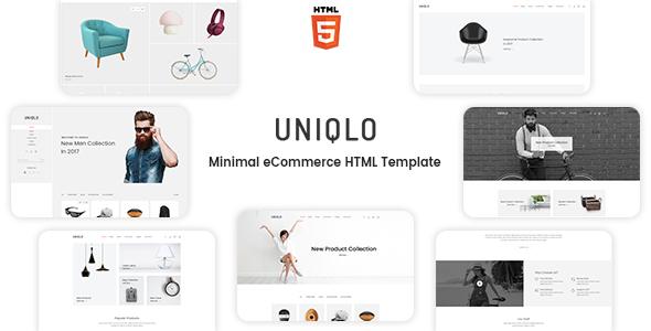 Uniqlo - Minimalist eCommerce Template - Shopping Retail TFx Trent Len