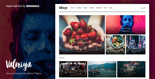 Valeriya - Classy Theme for WordPress - Personal Blog / Magazine TFx Nash Royston