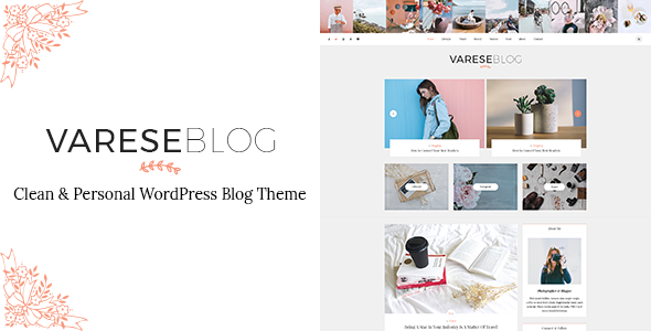 Varese - Clean & Personal WordPress Blog Theme - Blog / Magazine WordPress TFx Kohaku Garrett