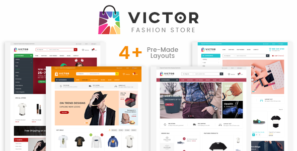 Victor - eCommerce Fashion Template - Fashion Retail TFx Wendell Milford