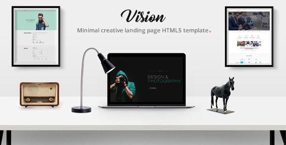 Vision - Multi Concept Landing Page Combo HTML5 Template. - Portfolio Creative TFx Walter Len