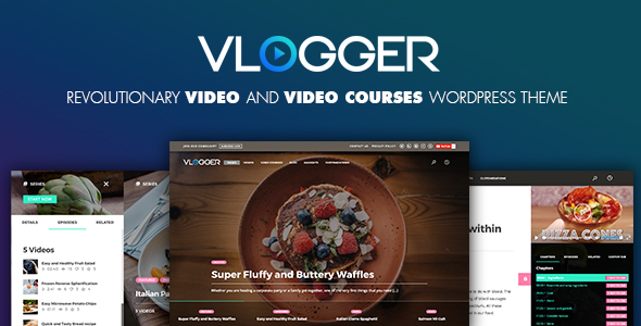 Vlogger: Professional Video & Tutorials WordPress Theme - News / Editorial Blog / Magazine TFx Tracey Kennith
