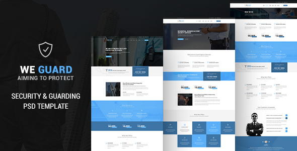 WE GUARD - Security & Guarding Services PSD - Corporate PSD Templates TFx Rene Lovell