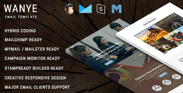 Wanye - Multipurpose Responsive Email Template With Online StampReady Builder Access - Newsletters Email Templates TFx Carran Richard